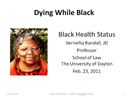 Dying While Black Title Slide